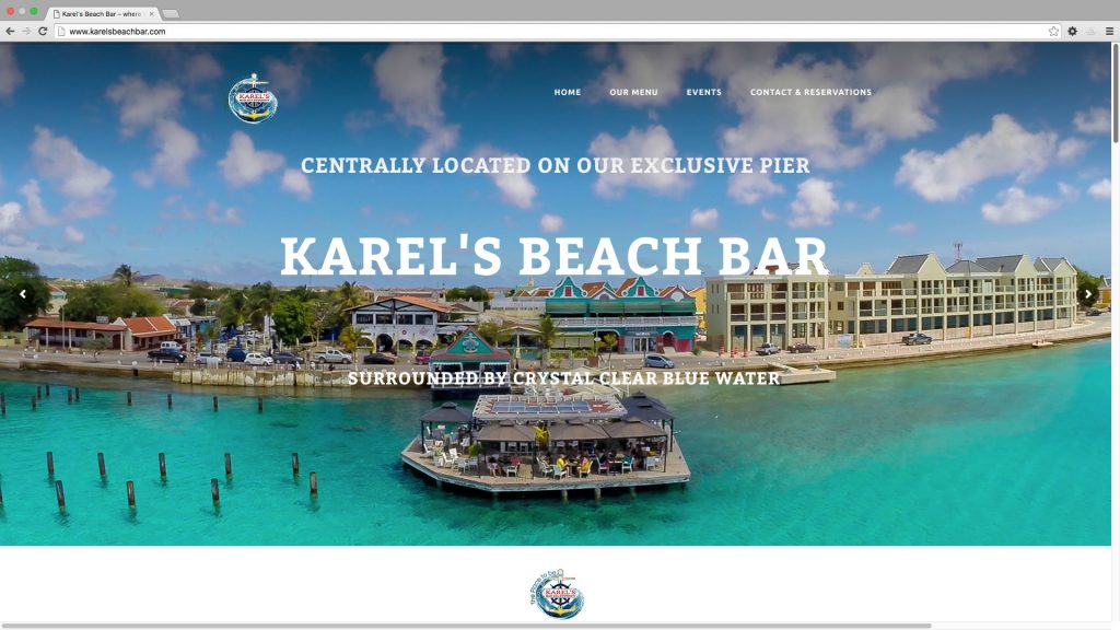 Website Karels Beach Bar