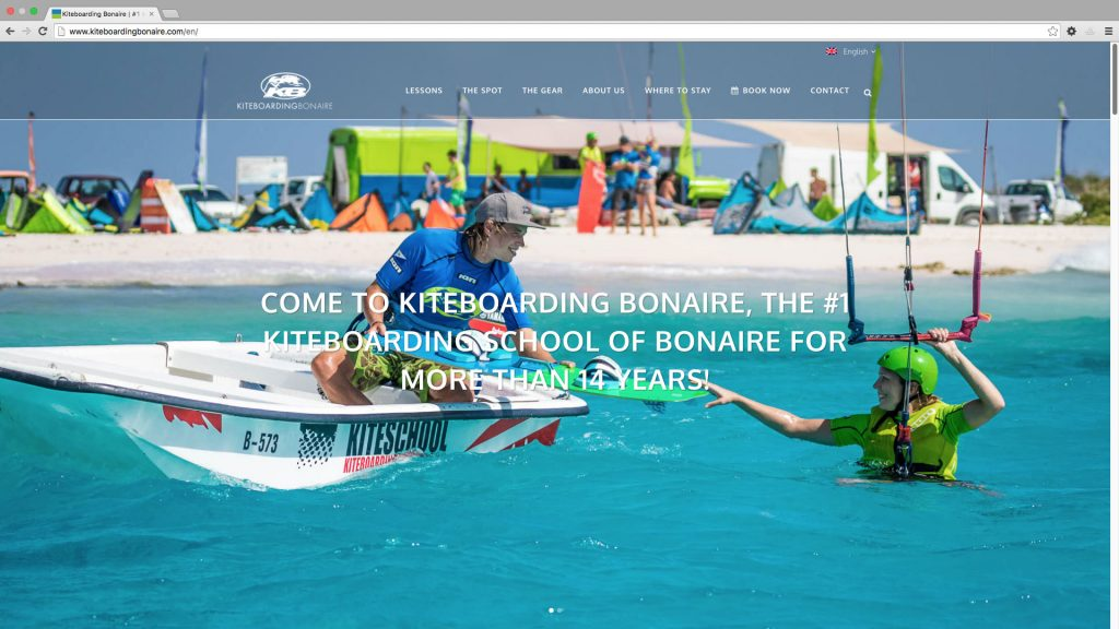 Website Kiteboarding Bonaire